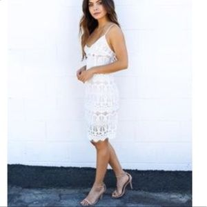 Vici Collections White Lace Dress